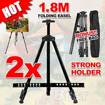 2X Folding Tripod Easel Display Stand Drawing Board Art Artist Sketch Painting