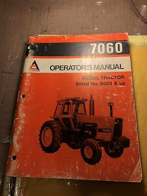 december 1977 allis-chalmers diesel tractor 7060 operator's manual