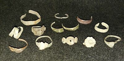 Ancient Roman Bronze Ring Fragments