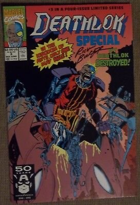 1) DEATHLOK#3 1991 NM+ signed by artist/creator Rich Buckler (rare