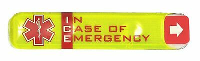 PORTWEST ID10 yellow ID ICE In Case of Emergency contact holder sticker