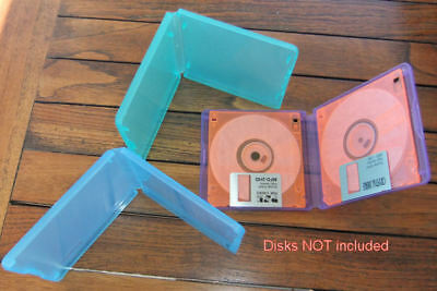 "Bundle 3 x 3.5"" Plastic Floppy Diskette/Disk Cases; Each Holds 2 Disks"
