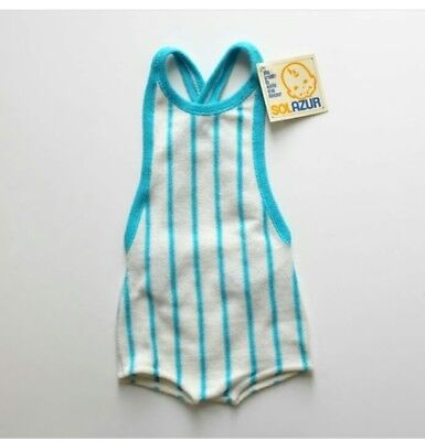 French Vintage Retro Sunsuit Swimsuit Romper Terry Cloth Baby Toddler UNISEX