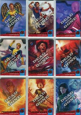 2018 Fleer Ultra X-Men Dead and Gone Complete 10 Card Insert Set