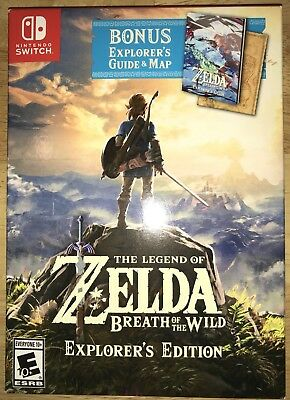 NEW Legend of Zelda: Breath of Wild Explorer's Edition RARE Nintendo Switch NICE