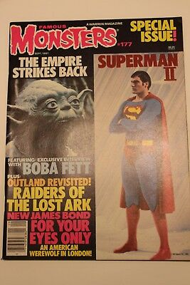 Famous Monsters #177 Sept 1981 Empire Strikes Back Superman II 2