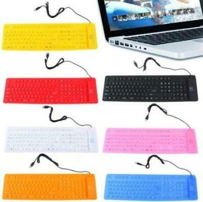 USB Wired Ultra Slim Portable Mini Flexible Keyboard For PC Computer Laptop 109