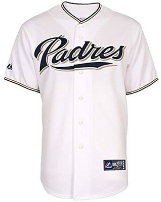 (XXXX-Large) - San Diego Padres Home White Majestic Replica Baseball Jersey
