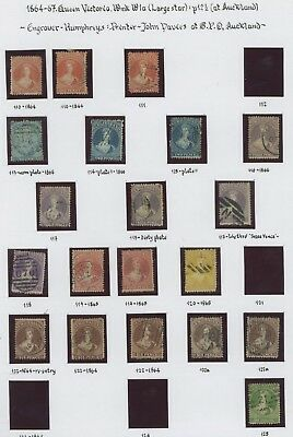 New Zealand Stamps 1864-1867 Sg #110-125 Study Of Chalon Heads Inc #116 #119 Vf