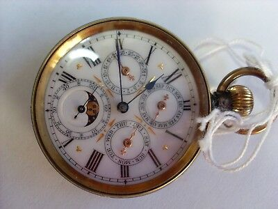 Moon Faced Pocket Watch working order
