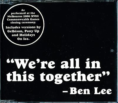 Ben Lee We're All In This Together 4 Track Australian Cd - Near Mint - Ln
