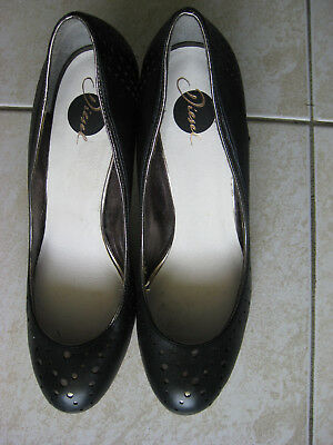 DIESEL black leather high heels size 40
