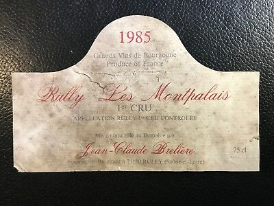 MF collection charlemagne - étiquette de vin  - Rully 1985