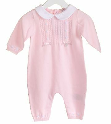 Buy Baby Girl Deluxe Spanish Style Pink Knitted Rompers Suit All In One Outfit