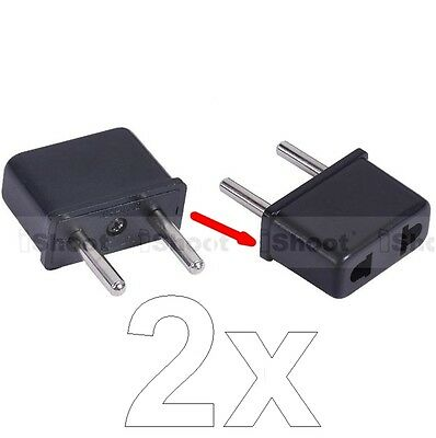 2 US United States AU Australia to EU Europe Power Plug Adapter Travel Converter