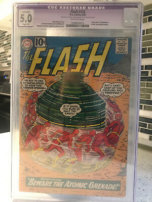 Flash #122 DC Comics August 1961 CGC 5.0 Restored Grade 1038503015
