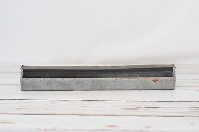 VTG Galvanized Metal Country Farm Chicken Feeder Trough Tray Planter Jamesway E2