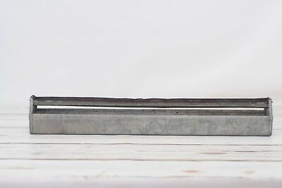 VTG Galvanized Metal Country Farm Chicken Feeder Trough Tray Planter Jamesway E3