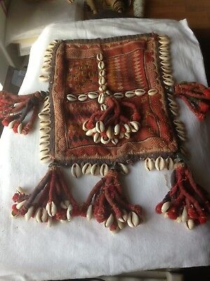 Antique/vintage Indian Embroidery With Shells & Tassles