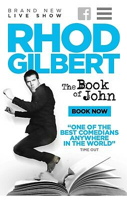 Rhod Gilbert Tickets x2 - 19th July Blackpool (Stalls seating)