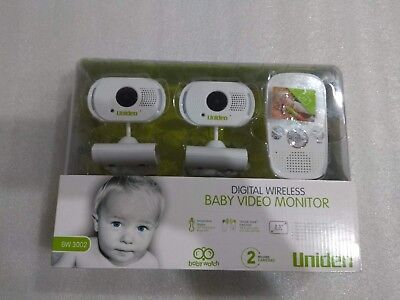 Uniden BW3002 2.3 Inch Digital Wireless Baby Video Monitor with 2 Cameras