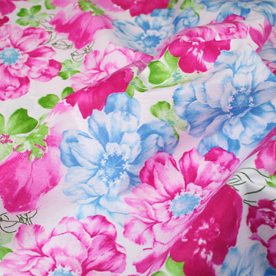 "Big  Floral 100% cotton fabric sold by the meter 63"" super width 1901003"