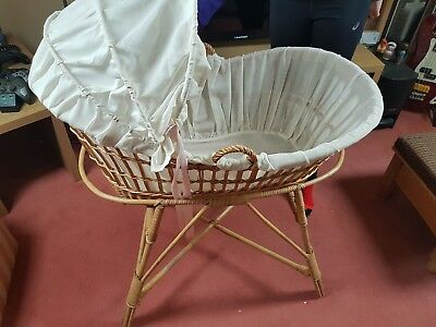 Beautiful Baby Moses Crib Basket Antique Handmade