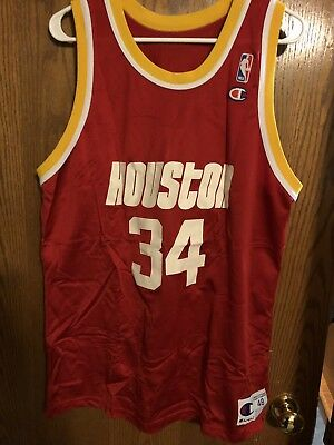 0819783b4 ... spain vintage champion houston rockets hakeem olajuwon jersey size 48  nba 72678 a077b