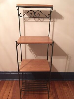 Longaberger Tall Wrought Iron Bakers Rack/Stand