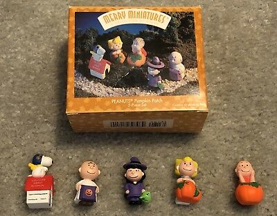 Hallmark Merry Miniatures, Peanuts Pumpkin Patch, 5-Piece Set, New In Box