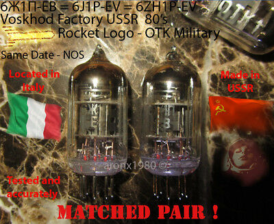 MATCHED PAIR 6J1P-EV 6ZH1P-EV 6J1 6AK5 EF95 TESTED Tube Röhre Röhren Valvola ! !