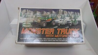 2007 Hess Monster Truck with Motorcycles - MIB