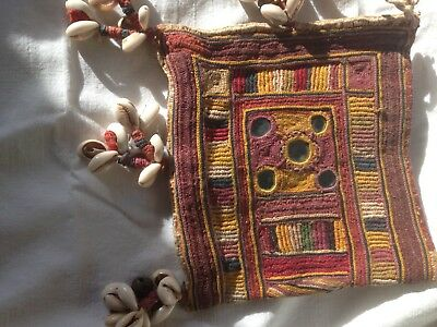 ANTIQUE/VINTAGE INDIAN EMBROIDERED MINI BAG from GUJARAT
