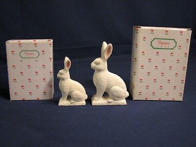 Dept. 56,  Easter, 1 Small Rabbit #74993 & 1 Large Rabbit #74985, Mint In Box
