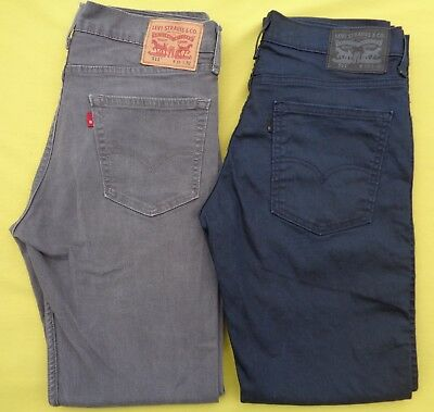 2434dde7c28 2 Pair LOT Mens LEVIS 33 x 32 SLIM Skinny 511 Stretch Denim Jeans A+ Nice