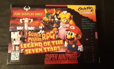 Super Mario RPG Box New (for display only) Solo Caja Nueva