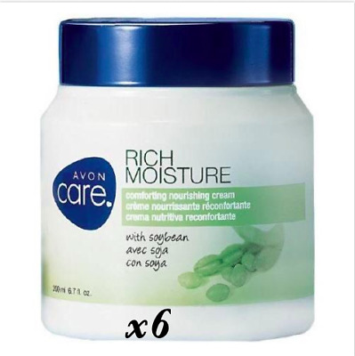 6~ Avon Care Rich Moisture Comforting Nourishing Cream with Soybean