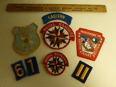 Royal Rangers Square Edge Emblem 2, Pow Wow, Winterday & Uniform Patches 1970's