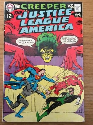 The Justice League Of America  #70    -   Dc Comics   -  1969   -   Usa Original