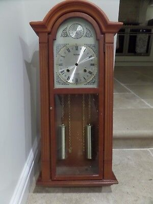 Acctim  Tempus Fugit Wall Clock ' Wooden Case And Face '