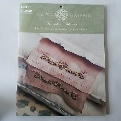 Bucilla Anna Griffin Victorian Collection Transfer Pack Silk Ribbon Embroidery
