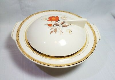 Sweet! Covered Serving Bowl - Triumph American Limoges - Vermillion Rose Pattern