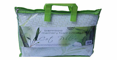Kids Soft Bamboo Cot Bed Pillow Breathable Cover Foam Baby Toddler Bed Pillows