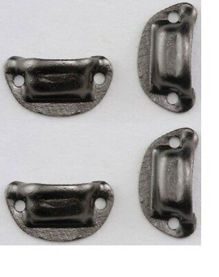 Dollhouse Miniatures 1:12 Scale Victorian Drawer Pull, Pewter, 4/Pack #CLA05549