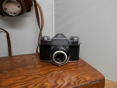 Zeiss Ikon Contaflex Slr Camera With Case Nice Clean Condition