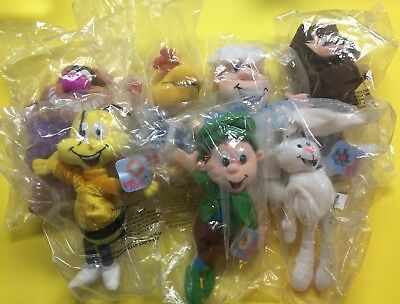 Complete Set NOS General Mills Breakfast Babies Plush Pals 1997 Sealed 7 Toys