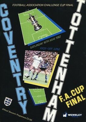 Coventry v Tottenham 1987 FA Cup Final programme, in excellent condition