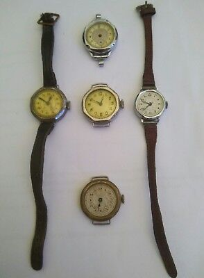 Joblot Antique Wristwatch Good Patina Untouched Original Conversion Pocket Watch