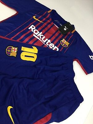 Nike Barcelona Lionel Messi Jersey & Shorts Dri-Fit Youth Size 24 (7-8) NEW!