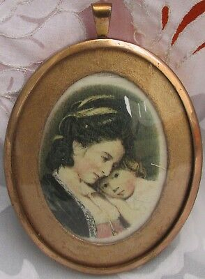 Miniature Portrait Of A Mother And Child In A Beautiful Frame